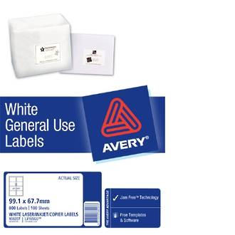 Avery L7165 General Use (Dl8) 99x68mm