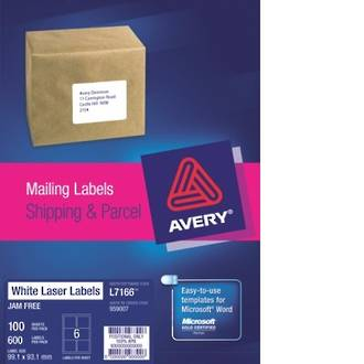 Avery L7166-100 True Block 6up 99x93mm