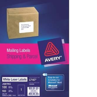 Avery L7167-100 True Block 1up 200X289mm