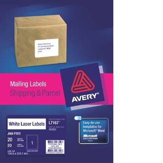 Avery L7167-20 True Block 1up 200x289mm