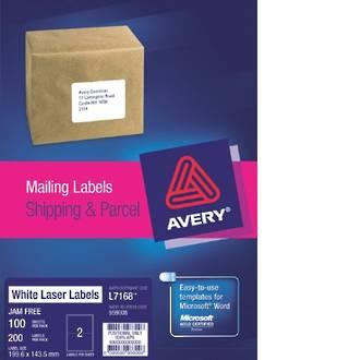 Avery L7168-100 True Block 2up 200x144mm