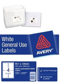 Avery L7169 General Use (Dl4) 99x139mm