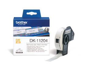 Brother DK11204 White Mulltipurpose 17x54mm