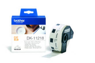 Brother DK11218 White Round Label 24mm Dia.