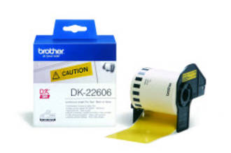 Brother DK22606 Yellow Continuous Length Label 62mm x 15m