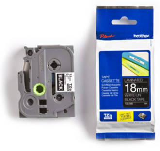 Brother TZe345 18mm White on Black Label Tape