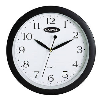 Carven Wall Clock 30cm Black