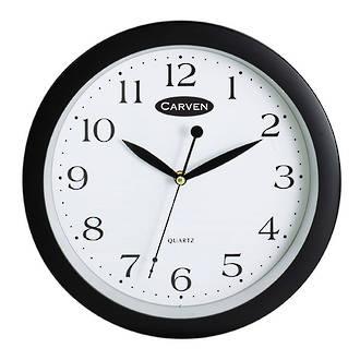 Carven Wall Clock 25cm Black