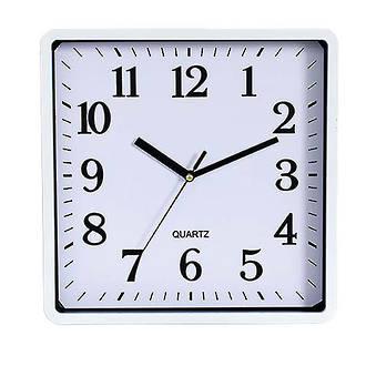 Carven Clock Square 25cm White