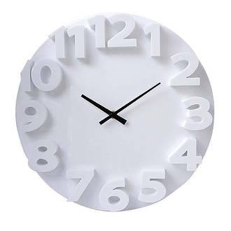 Carven Wall Clock Fashion 3D 35cm White