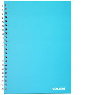 Collins A4 Wiro Spiral Notebook Ice Blue 100 Leaf