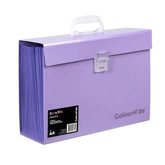 ColourHide®Expanding File PP Carry File Purple