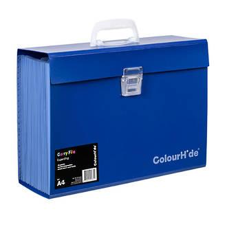 ColourHide®Expanding File PP Carry File Blue