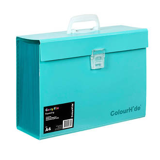 ColourHide®Expanding File PP Carry File Aqua