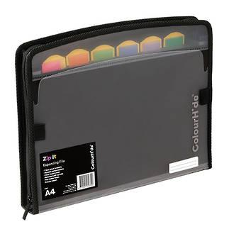 ColourHide®Expanding File Zip It PP Black