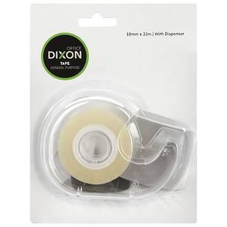 Dixon General Purpose Tape+Dispenser 18mmx33m