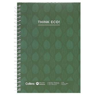 Collins A5 Recycled Notebook Side Open