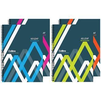 Collins A4 Wiro Notebook Polyprop 60 Leaf