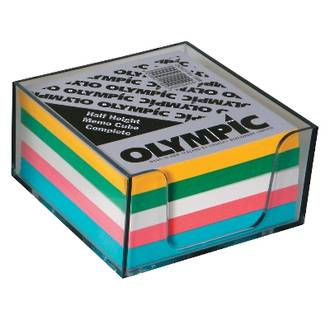 Olympic Memo Cube Half Height