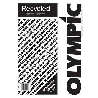 Olympic Topless Pad A4 Recycle 160 Pages 60gsm