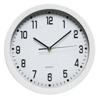 Dixon Wall Clock Round 30cm White