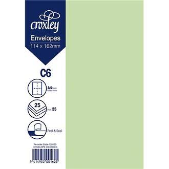 Croxley Env C6 Coloured Pack 25 - 7 Colours