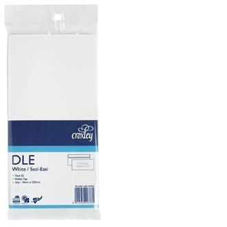 Croxley Env DLE Non Window White SE Pk 50