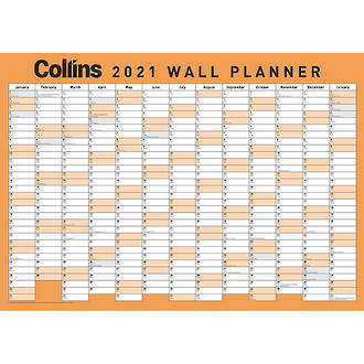 Collins A3 Wall Planner Unlaminated Odd Year