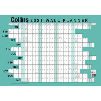 Collins A2 Wall Planner Laminated Odd Year