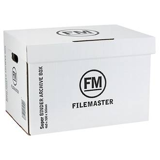 FM Binder Archive Box Super Strength White 460x330x320