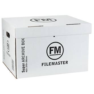 FM Jumbo Archive Box Super Strength White 432x370x286 (1-2 units)