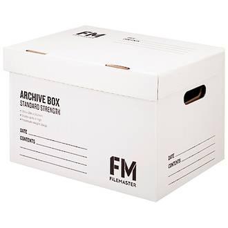 FM Archive Box Standard Strength White 384x284x262