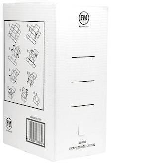 FM Storage Carton Jumbo Foolscap White
