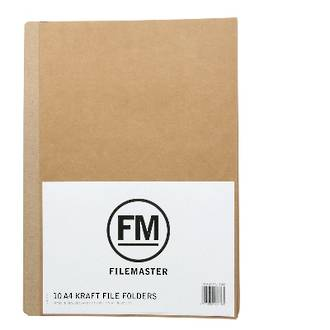 FM File Folder Pack 10 Kraft A4