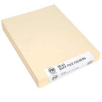 FM File Folder Pack 50 Buff A4