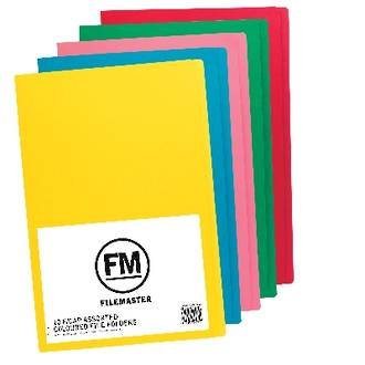 FM File Folder Pack 50 Asstd Colours Foolscap