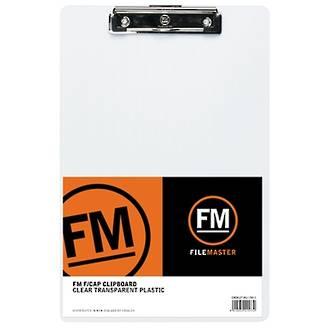 FM Clipboard Clear Foolscap Transparent Plastic
