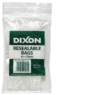 Dixon Resealable Bags 65X75mm