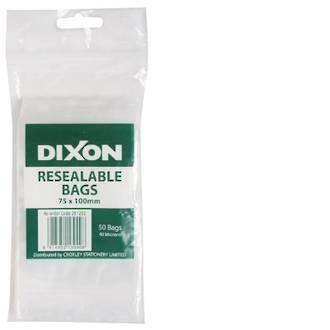 Dixon Resealable Bags 75X100mm