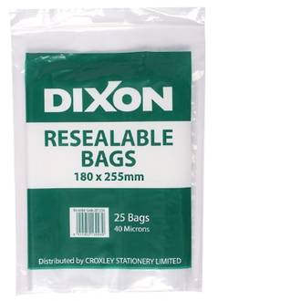 Dixon Resealable Bags 180X255mm