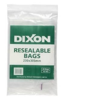 Dixon Resealable Bags 230X305mm