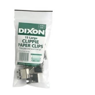 Clippie Slide Paper Clip Large Pk 15