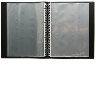 FM Display Book A4 Black Multiring 20 Pocket