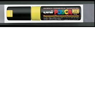 Uni Marker Posca 8mm Yellow Chisel Tip Bold PC-8K