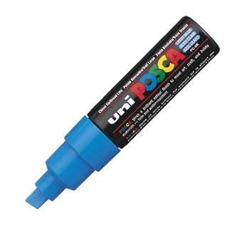 Uni Marker Posca 8mm Blue Chisel Tip Bold PC-8K