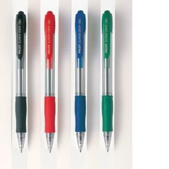 Pilot Pen Supergrip Black Med Retractable BPGP-10R-M
