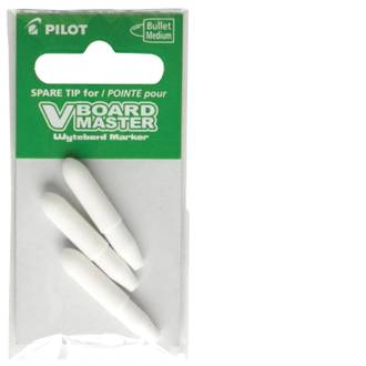 Pilot Begreen Tips Bullet Vboard Whiteboard Marker VBM-M-Pkt3 - 3 Pack