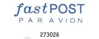 Dixon Stamp [Fast Post Par Avion] Blue