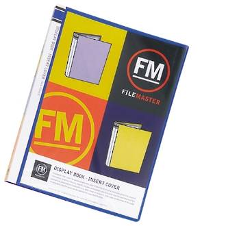 FM Display Book A4 Blue 20 Pocket Insert Cover