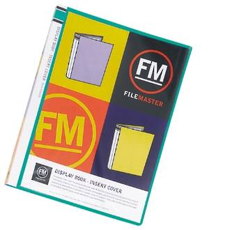 FM Display Book A4 Green 20 Pocket Insert Cover